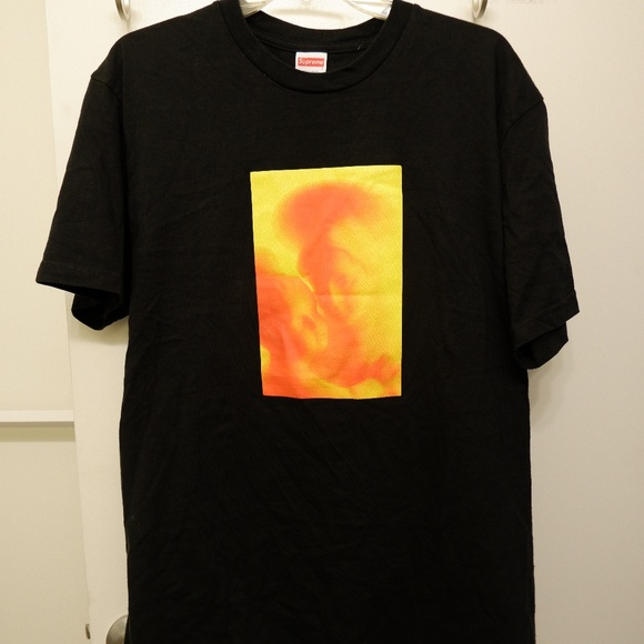 170757014395 Supreme X Andres Serrano FW17 Madonna & Child Tee.  M_5d00612462e19a0beb1fad03. Other Shirts ...